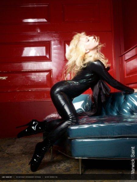 Lady Gaga latex catsuit 03